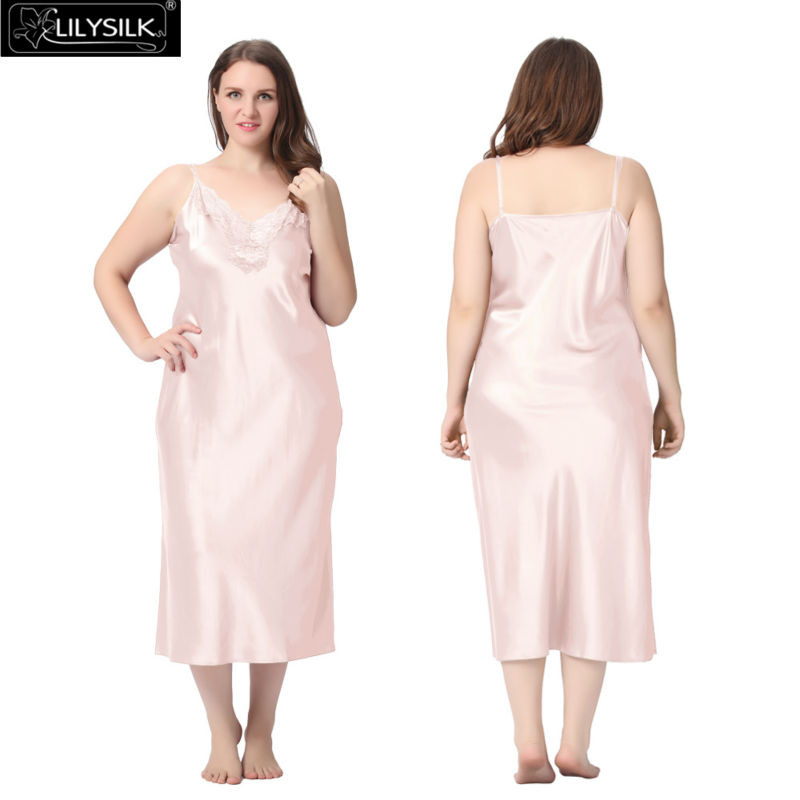 1000-light-pink-22-momme-lacey-neckline-silk-nightgown-plus-size-01