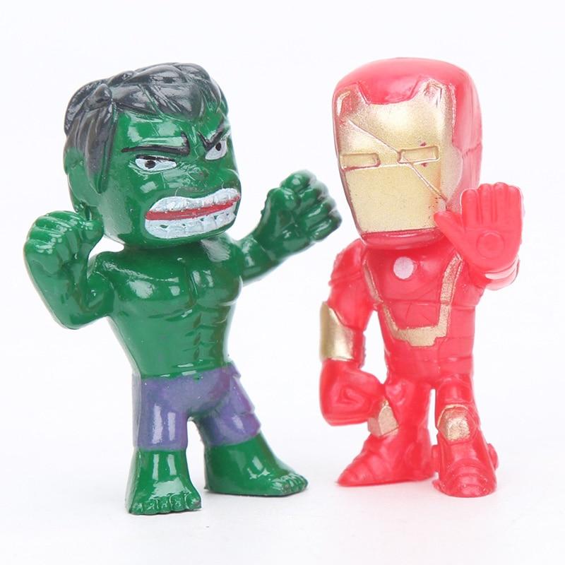 12stk Q-versjonen Avengers Figur Set Marvel Leker 4-5cm Iron Man Thor - Toy figurer - Bilde 4