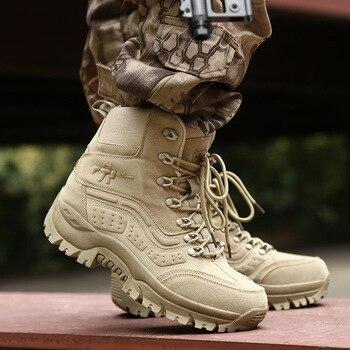 46be2060871 Botas militares para hombre 2018, zapatos de invierno para hombre, botas  cómodas para hombres, botas de seguridad para el trabajo de punta redonda,  ...