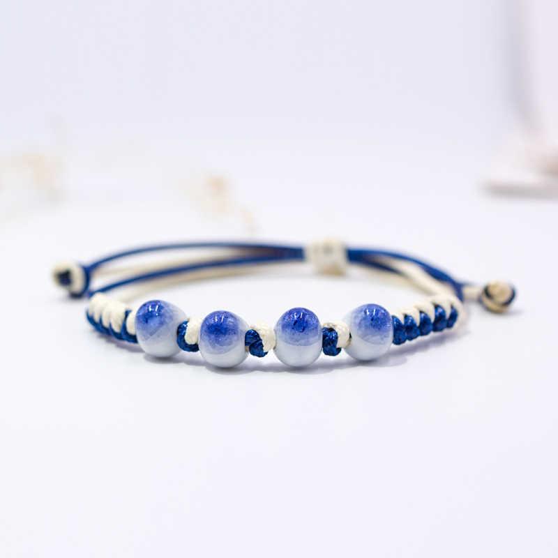 Women's Ceramic hand made DIY Bracelets Artware Retro bracelet for woman girl gift Fashion Jewelery wholesale #5230