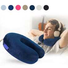 Memory Foam U Shaped Neck Pillow Soft for Car Train Airplane Travelling Office Home Head Support Free Shipping