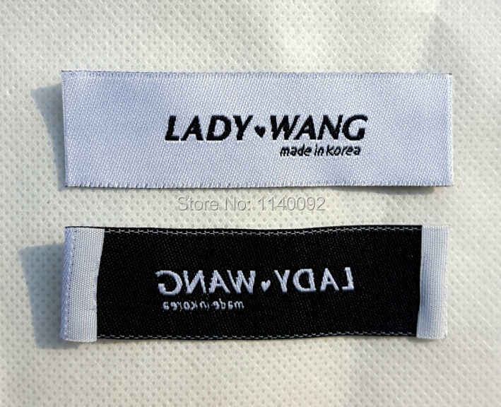 Buy free shipping customize clothing Woven t shirt tags