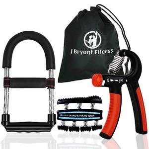 Image 1 - Set of 3 Multifunction Hand Grip Wrist Strengthener Forearm Grip Workout Kit Adjustable Hand Gripper Exerciser Fitness Equipment