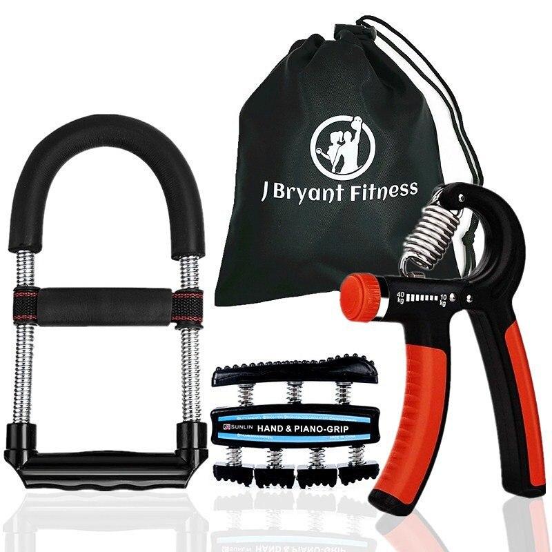 Equipamentos para Exercício de Mão Multifuncional com Aderência para a Mão e Fortalecimento do Pulso Conjunto de 3 Equipamento Fitness Kit