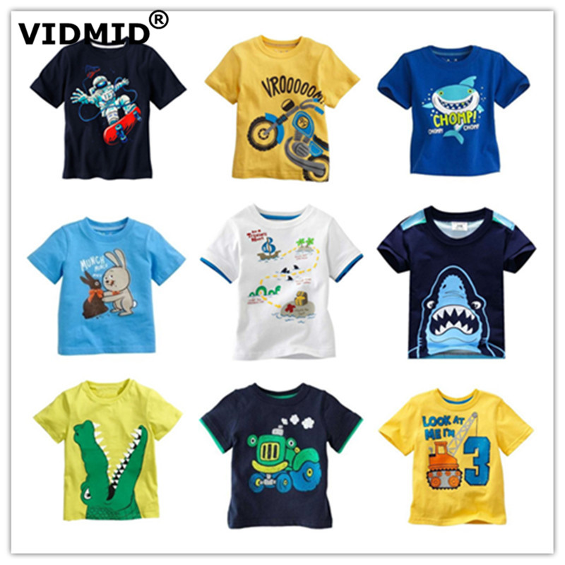 VIDMID Children's T-Shirt Clothing Tops Short-Sleeve Baby-Boys Kids Cotton Fashion Tees