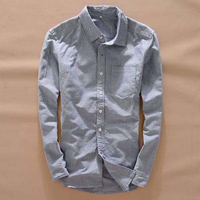 Nuevo otoño camisas de los hombres de lavado de agua oxford ls camisa de algodón ocasional de la manera del todo-fósforo del color sólido slim fit men's clothing