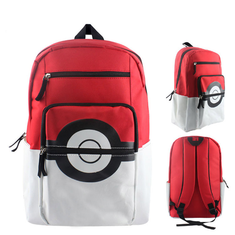 Anime Pokemon Pikachu Poke Ball School Shoulder Bag Children Plush Backpack Free Shipping BY0119