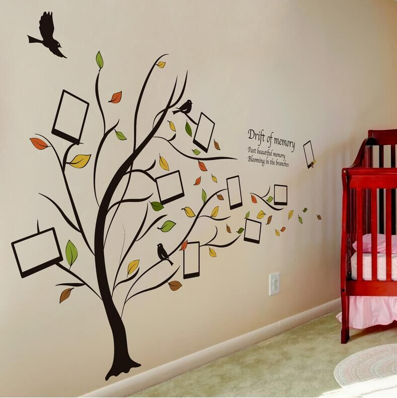 Aliexpress.com : Buy Creative Photo Frame Wall Sticker Tree Vinyl Wall  Stickers For Kids Rooms Wall Decor Childrenu0027s Room Muurstickers Poster From  Reliable ... Part 51