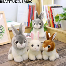 1Pcs 15cm/28CM High Quality Soft Simulation Rabbit Plush Toys, Animal Stuffed Childrens Baby Gifts, Home Deco