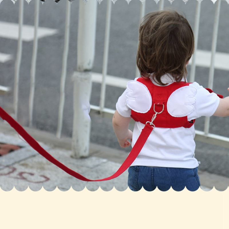 2019 New Baby Kids Safety Harness Strap Toddler Walking Anti-Lost Rope Traction Rope Baby Walking Harnesses Leashes Red Blue