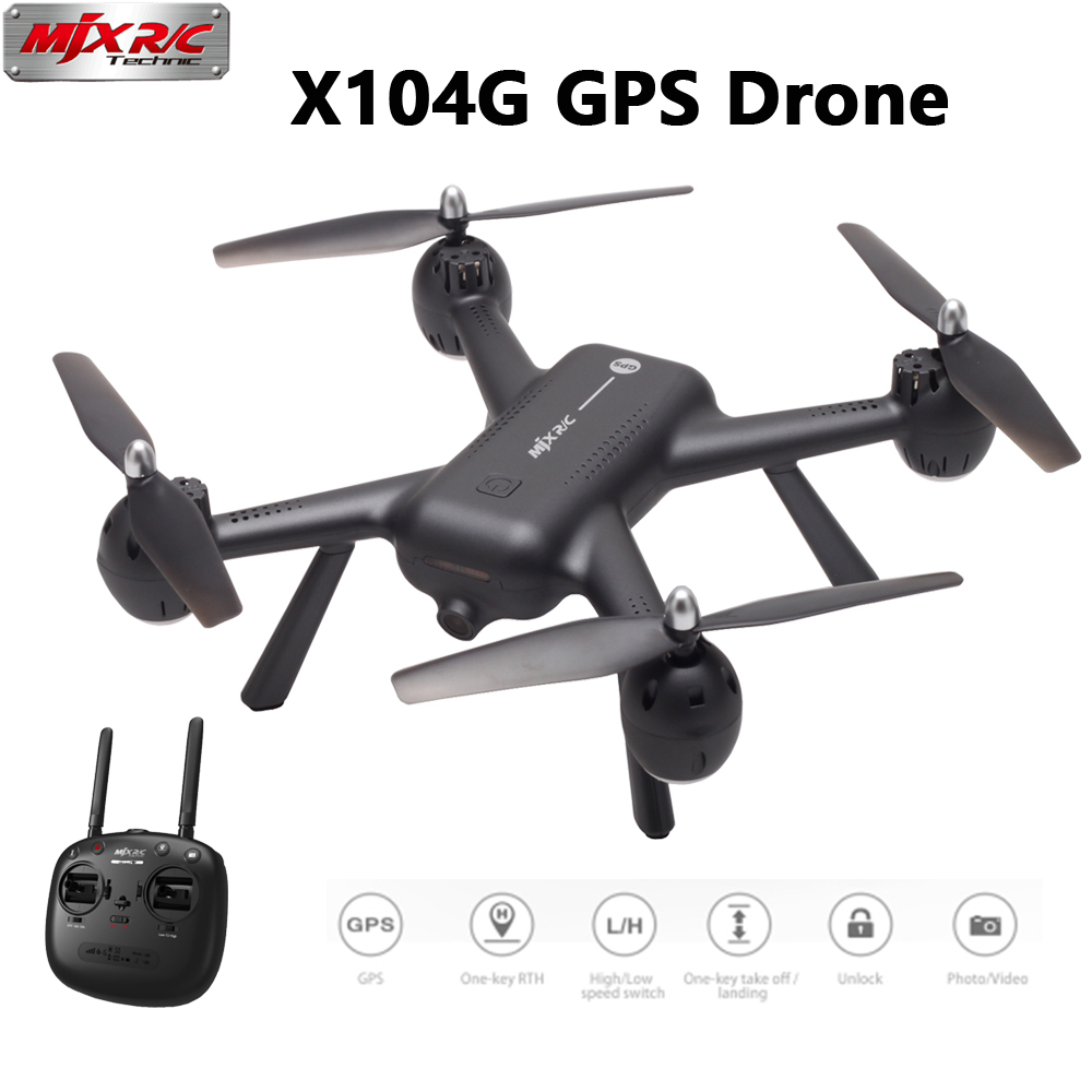 MJX X104G GPS RC Drone With 5G WIFI FPV HD Camera Hollow cup Motor RC Quadcopter VS MJX B5W F11 RC Helicopter GPS RC Drone
