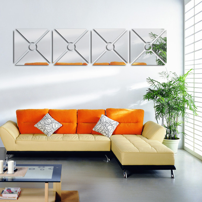 2017 new hot wall stickers acrylic mirror stickers home for Home decor 3d stickers