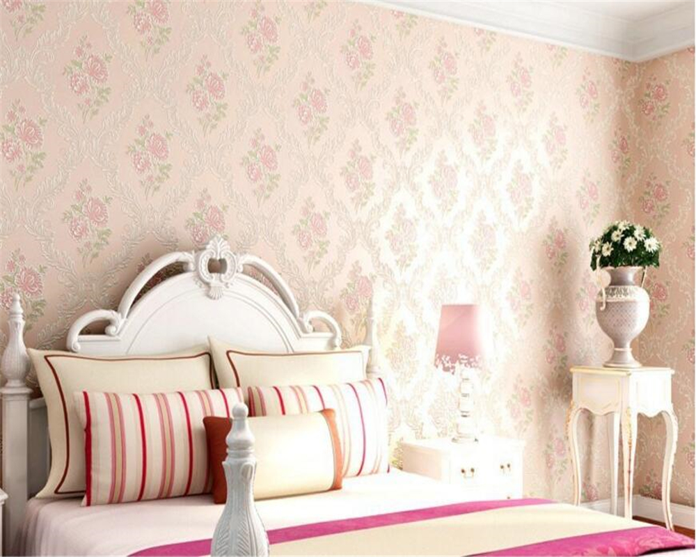 beibehang Stylish papel de parede warm background wall classic pastoral style non-woven bedroom full of wallpaper stereo behang beibehang pastoral flowers and birds wall paper children princess room girl bedroom warm non woven wallpaper papel de parede
