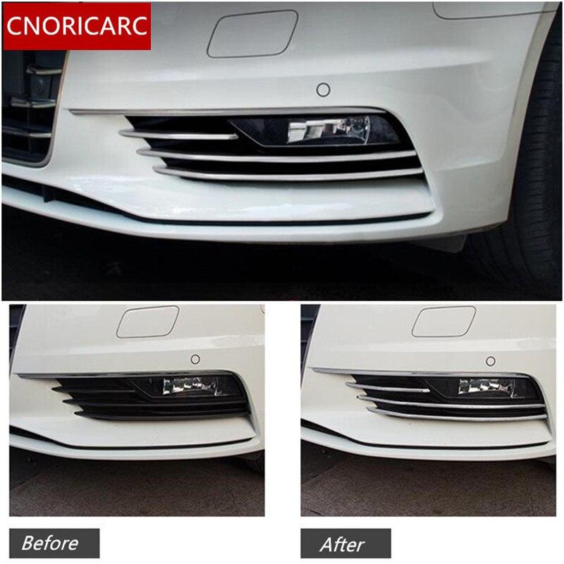 S3 Style 1Set Fog Lamp Cover Trim Fog Lights Decor Suitable For Audi A3 2014-16