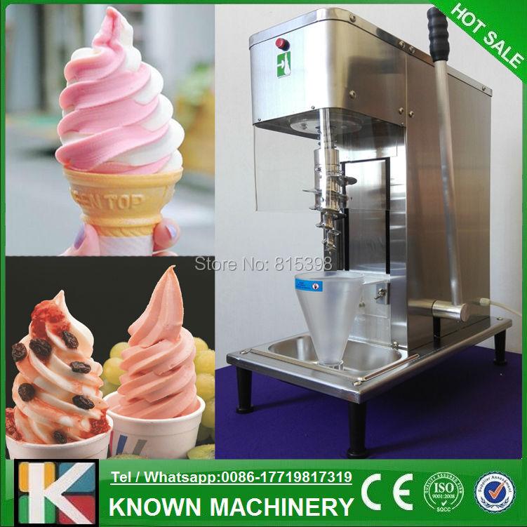 Free shipping supply the 2016 new designed frozen yogurt blending machine / fruit ice cream mixer machine for sale fruit ice cream feeder from factory selling gelato fruit nuts mixer