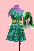 women inside out movie cosplay disgust costume dress for adult(China)