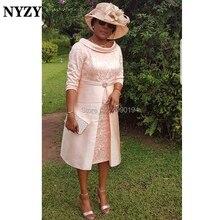 NYZY M166 винтажное торжественное платье с чашей на шее для свадебной вечеринки, кружевные платья для матери невесты, жениха