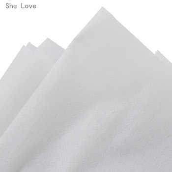 Chzimade 100cm 25g 45g White Non-woven Fabric Interlinings Iron On Sewing Patchwork Single-sided Adhesive Lining DIY 6