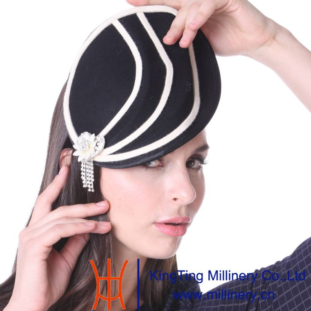 June's Young Women Cocktail Fascinator Hats Wedding Headwear With Headband Black Lady Fashion Winter Diamond Casings Accessories карабин black diamond black diamond rocklock twistlock