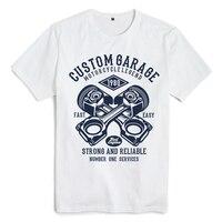 Bloodhoof Custom Garage printing white cotton men t shirts hip hop unisex tops tee