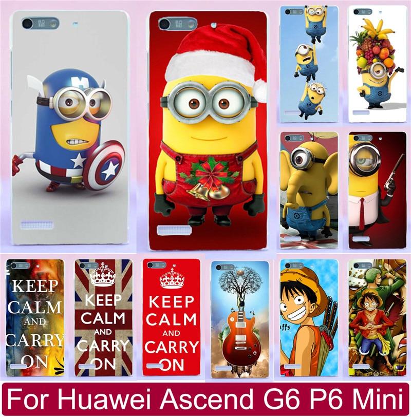 (Только для 3G версия) дело Капа для Huawei Ascend G6 P6 Мини мультфильм Гадкий я Миньоны кусок чехол для телефона капюшон В виде ракушки крышка