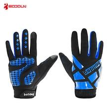 Boodun Winter Cycling Gloves Touch Screen Silicone Non-slip Shock-absorbing Full-finger Men Women MTB Road Bike Bicycle