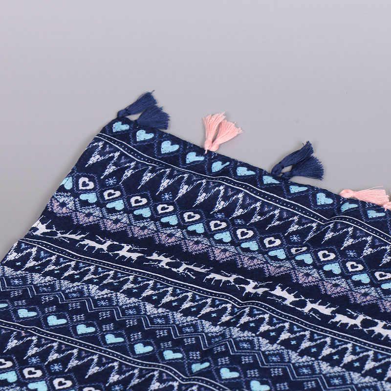 Donna bella printe cuore di animale cotone viscosa spiaggia floreale scialli nappe autunno Modello avvolge sciarpe/sciarpa 10 pz/lotto