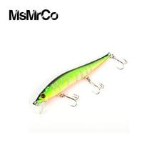 MsMrCo 1Pcs 5 color 11.5cm 13.1g Super Quality Lure Minnow False Bionic Bait Hard Plastic Artificial Swim 3D Eyes Fishing Tackle