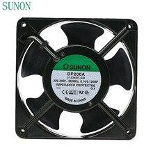 مروحة التيار المتناوب 220 فولت لـ Sunon DP200A P/N 2123XBT.GN 0.14A 12038 220 فولت 120*120*38 مللي متر خزانة صناعية مروحة تبريد 120 مللي متر