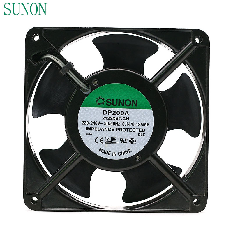 SUNON DP200A P/N 2123XBT.GN 0.14A 12038 220V 120*120*38mm industrial case cabinet cooling fan 120mm original delta ffb1224she 12cm 120mm 12038 120 120 38mm 24v 1 20a cooling fan