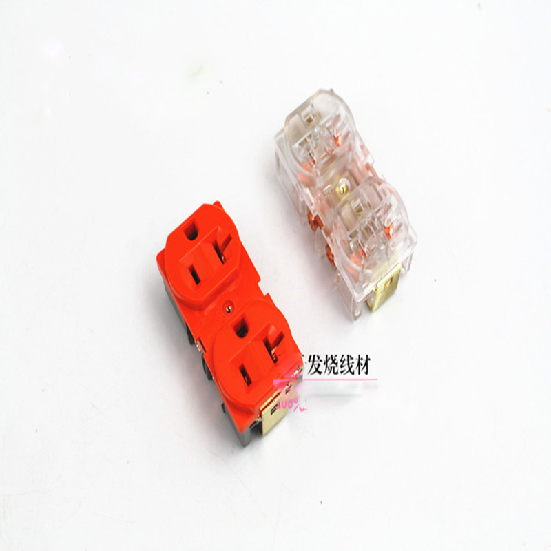 Senior copper orange transparent socket outlet core core American standard