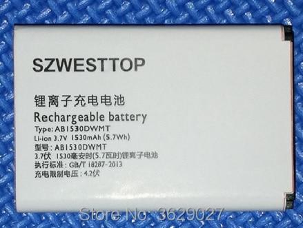 SZWESTTOP original AB1530DWM battery For philips X516 X518 X525 V816 X815 W626 cellphone for XENIUM smart Mobile