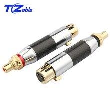 Высококачественный RCA к XLR 3Pin гнездовой разъем XLR Джек DIY Аудио коннектор акустические шипы RCA штекер Адаптер Dold-Plated YS-264