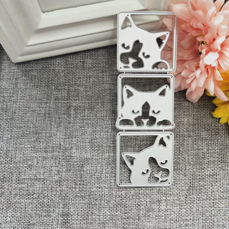 New Three Dogs Metal Cutting Dies for Scrapbooking DIY Album Embossing Folder Paper Cards Maker Template Decor Stencils Crafts in Cutting Dies from Home Garden