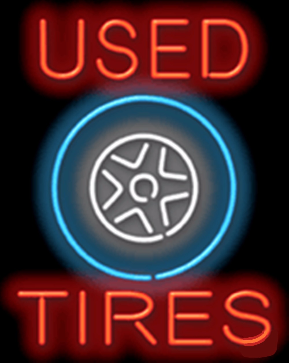 Used Tires Trucks Amp Suvs Car Glass Tube Car Neon Sign