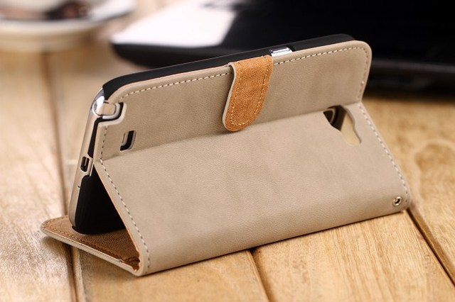Real Leather Stand Design Case Cover for Samsung Galaxy Note 2 II N7100