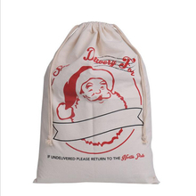 1pcs Gift Bag 50x70cm Christmas 9 styles drawstring Canvas Santa Sack Rustic Vintage Christmas stocking bags