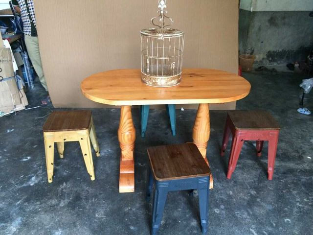 Groovy Us 177 6 Loft American Country Vintage Tea Shop Cafe Tables And Chairs Folding Wood To Do The Old Wood Bar Tables Bar Table In Dining Tables From Download Free Architecture Designs Intelgarnamadebymaigaardcom
