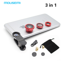 MOUSEMI 3 in 1 Fish Eye Mobile Lens Colored Fiaheye Lenses For Eyes Microscope Glasses Lentes for xiaomi redmi note 3 pro 2 5