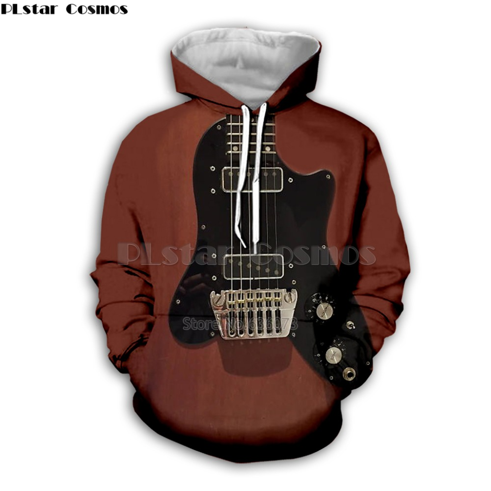 Guitar Art Musical Instrument 3D Print Long Sleeve Fashion Hoodie Hip Hop Tee Style Hooded Streetwear Casual Zipper Top Style10