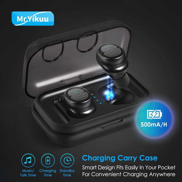 Wireless Bluetooth 5.0 Headset Earphones Earbuds