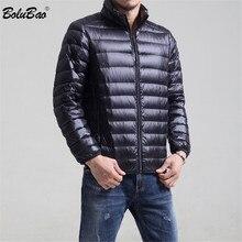 패션 브랜드 겨울 남성 다운 코트 남성 캐주얼 두꺼운 따뜻한 솔리드 컬러 다운 재킷 남성 슬림 피트 다운 코트