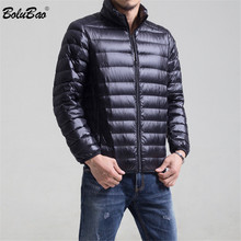 Fashion Brand Winter Men Down Coats 2019 Male Casual Thick Warm Solid Color Down Jackets Men #8217 s Slim Fit Down Coats cheap STANDARD REGULAR zipper Broadcloth Wool Feather Full NONE 100g 0 3KG
