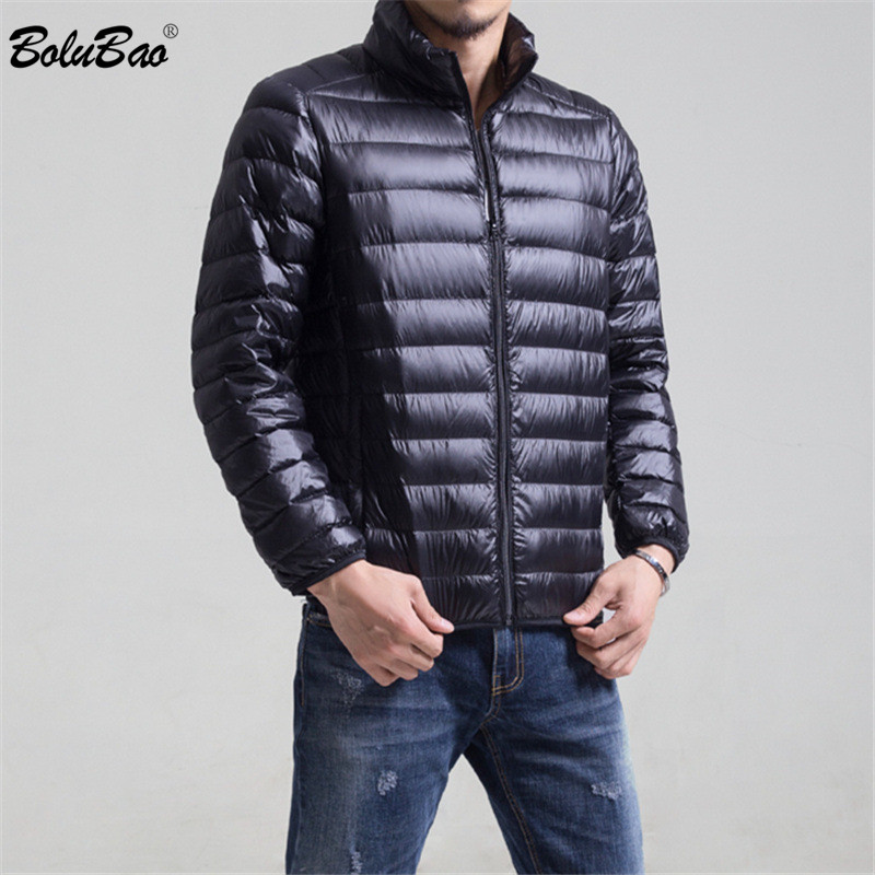 Fashion Brand Winter Men Down Coats Male Casual Thick Warm Solid Color Down Jackets Men's Slim Fit Down Coats