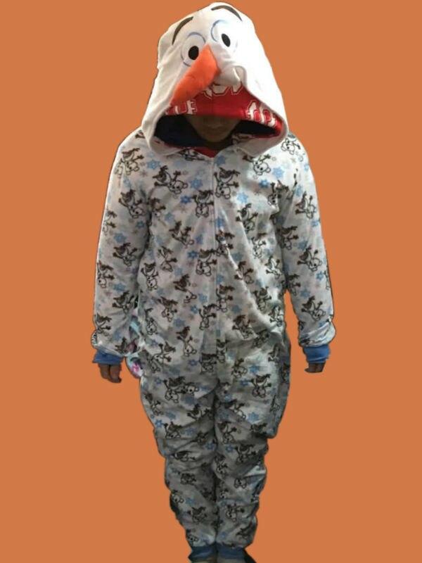 2016 Unisex Adult Snow Olaf Adult Costume Onesies Pajamas Jumpsuit Hoodies Adults Cosplay Costumes Olaf Snowman Cosplay Costume