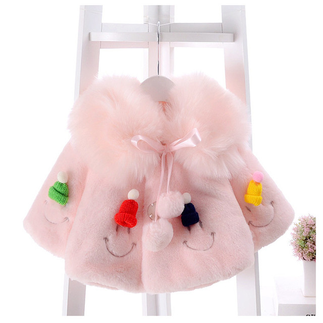 bf6d7fc820ff0 US $16.99 15% OFF|Cute Baby Jacket Girls Winter Coat Baby Girl Clothes Kids  Clothes Baby Winter Jackets Windproof Princess rabbit Faux Fur coat-in ...