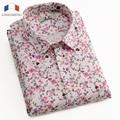 LANGMENG 2016 Fashion Floral Shirt Mens Designs Short Sleeve Casual Brand Shirt Men Slim Fit High Quality Men Dress Clothing
