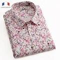 Langmeng 2016 moda floral camisa para hombre diseños de manga corta casual shirt marca hombres slim fit de alta calidad de los hombres vestido clothing