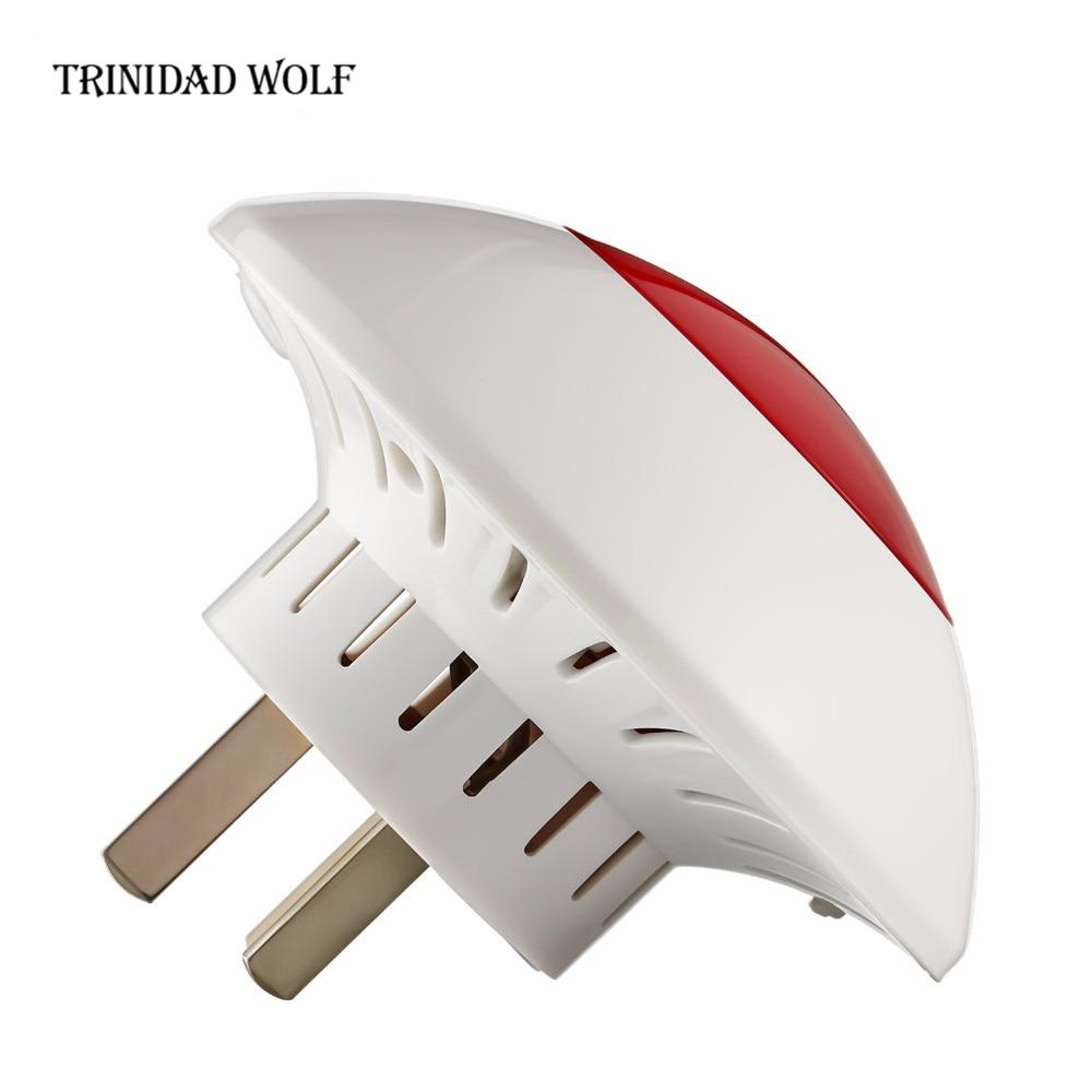 TRINIDAD WOLF Indoor Siren 100m Sound Light Siren Volume Wireless Strobe Siren For G18 G19 W1 W2 GSM WIFI PSTN Home Alarm System цена и фото