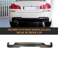 Diffuser Voor Bmw F10 M Sport Sedan 12-16 Dual Uitlaat Twee Out 528i 530i 535i 550i 5 Serie carbon Fiber Rear Bumper Lip Spoiler